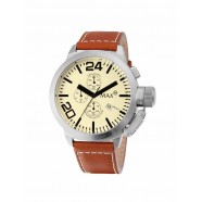 Max - Classic - Chrono IP Silver - Brown - 42mm