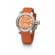 Max - XS36 - IP Silver - Orange - CZ