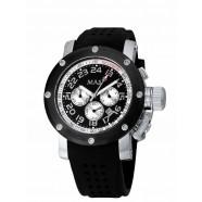 Max - Sports - SS/Black - White 47mm