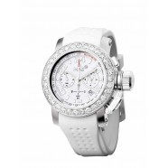 Max - Sports - IP Silver - White - CZ