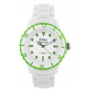 Colori - White Summer- White / Ring Lime Green